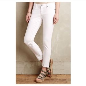 AG The Stevie Ankle Slim Straight White Jeans 25